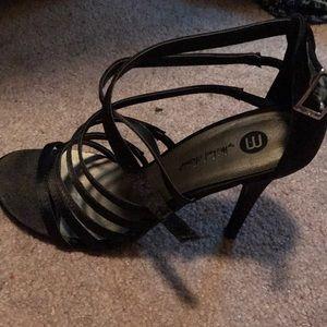 Ladies satin heels